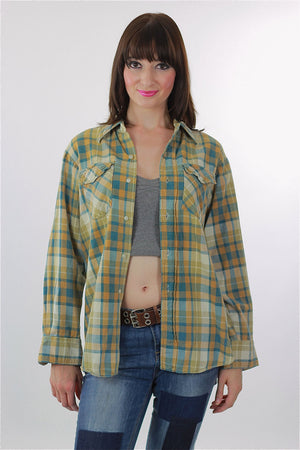 Vintage Heavyweight flannel shirt - shabbybabe  - 2