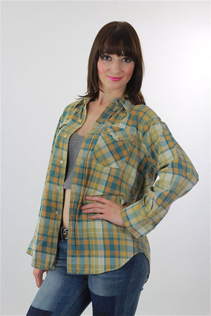 Vintage Heavyweight flannel shirt - shabbybabe  - 3