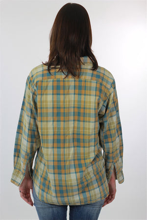 Vintage Heavyweight flannel shirt - shabbybabe  - 6