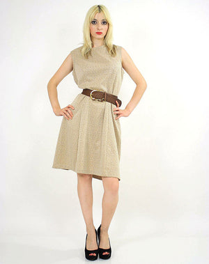 60s Mod dolly Aline space age dress sleeveless - shabbybabe  - 1