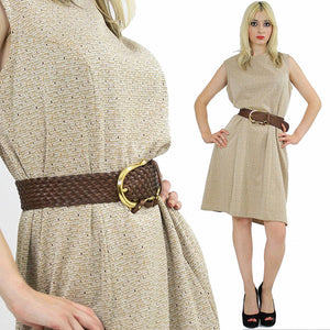 60s Mod dolly Aline space age dress sleeveless - shabbybabe  - 2