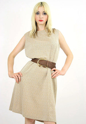 60s Mod dolly Aline space age dress sleeveless - shabbybabe  - 4