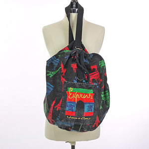 Vintage 80s Duffel bag Backpack - shabbybabe  - 1