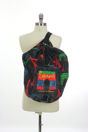 Vintage 80s Duffel bag Backpack - shabbybabe  - 2