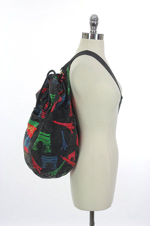 Vintage 80s Duffel bag Backpack - shabbybabe  - 3
