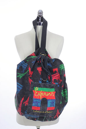 Vintage 80s Duffel bag Backpack - shabbybabe  - 4