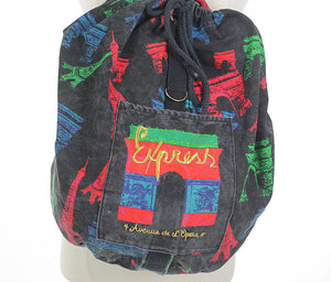 Vintage 80s Duffel bag Backpack - shabbybabe  - 5