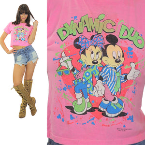 Vintage Mickey and Minnie Mouse Tee shirt Tshirt - shabbybabe  - 2