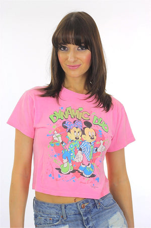 Vintage Mickey and Minnie Mouse Tee shirt Tshirt - shabbybabe  - 3