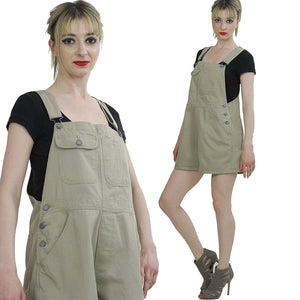 90s Grunge coverall playsuit overall romper - shabbybabe  - 2