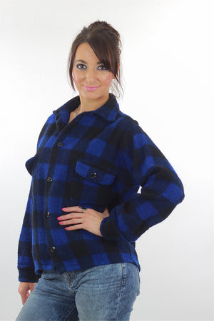 Blue buffalo plaid flannel shirt checkered lumberjack flannel - shabbybabe  - 3