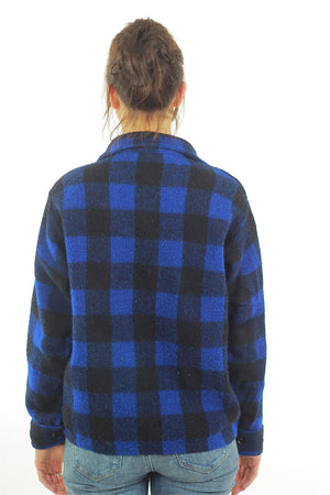 Blue buffalo plaid flannel shirt checkered lumberjack flannel - shabbybabe  - 4