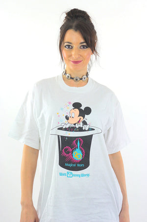 Mickey Mouse shirt Burger King shirt Hidden surprise shirt Disney World Anniversary shirt Mickey Magic hat shirt XL Extra Large - shabbybabe  - 4