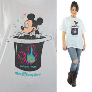 Mickey Mouse shirt Burger King shirt Hidden surprise shirt Disney World Anniversary shirt Mickey Magic hat shirt XL Extra Large - shabbybabe  - 1