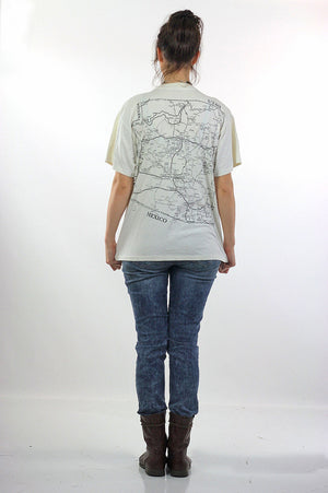 Arizona T shirt Map Tee White road map Tee shirt - shabbybabe  - 4