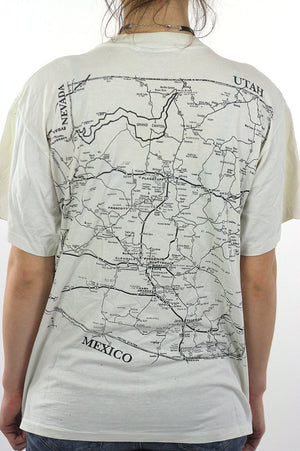 Arizona T shirt Map Tee White road map Tee shirt - shabbybabe  - 5