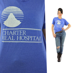 Medical shirt Blue Charter Real Hospital Tshirt L - shabbybabe  - 1