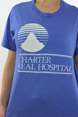 Medical shirt Blue Charter Real Hospital Tshirt L - shabbybabe  - 4