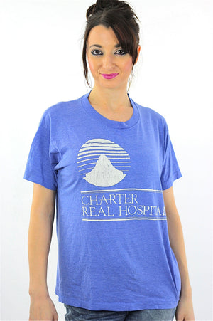 Medical shirt Blue Charter Real Hospital Tshirt L - shabbybabe  - 2