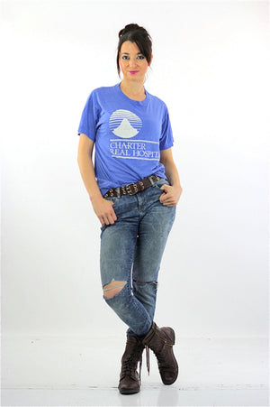 Medical shirt Blue Charter Real Hospital Tshirt L - shabbybabe  - 5