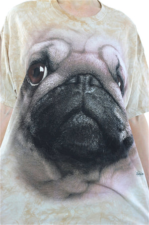 Dog shirt beige graphic tshirt Pug tee Oversize slouchy beige animal T shirt XL - shabbybabe  - 4