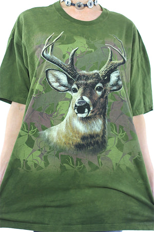 Deer animal tshirt graphic tee oversize hipster wildlife t shirt XL - shabbybabe  - 4