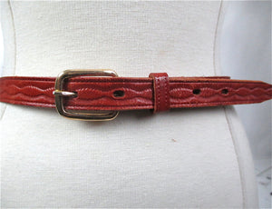 Tan leather belt beaded woven Alaska Belt tooled belt metal buckle - shabbybabe  - 1