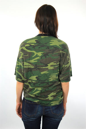 Camouflage shirt Army green Superman graphic t-shirt  XL - shabbybabe  - 3