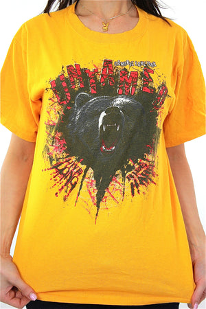 Vintage Bear animal tee shirt Untamed Canobie Lake Park tshirt M - shabbybabe  - 1