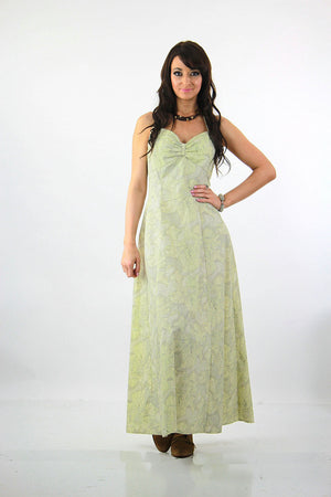 Liberty of London Boho maxi dress tropical floral Pastel  open back halter - shabbybabe  - 3