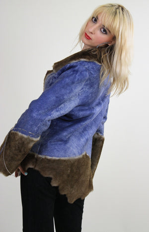 70s reversible jacket hippie boho faux fur faux leather - shabbybabe  - 6