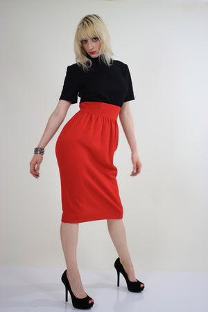 Vintage 80s Mod color block party cocktail dress - shabbybabe  - 4