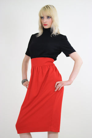 Vintage 80s Mod color block party cocktail dress - shabbybabe  - 1