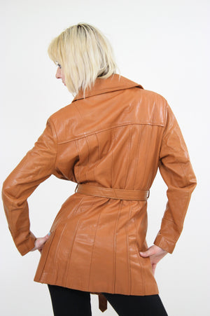70s Brown leather jacket boho hippie southwestern - shabbybabe  - 5