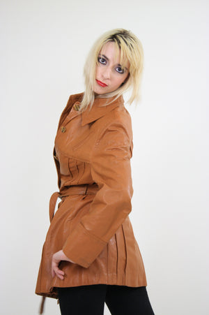 70s Brown leather jacket boho hippie southwestern - shabbybabe  - 6