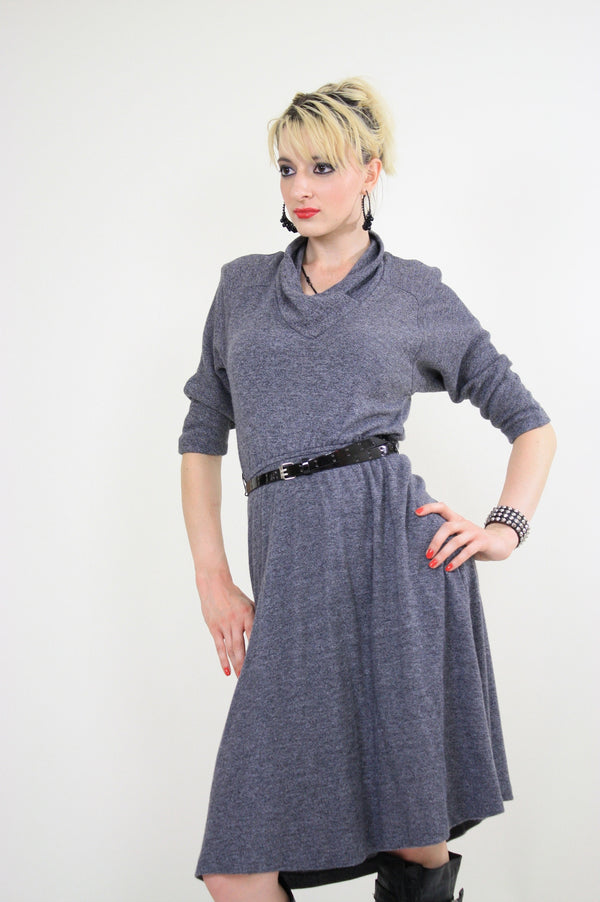 80s Bohemian Slouchy sweater dress - shabbybabe  - 1