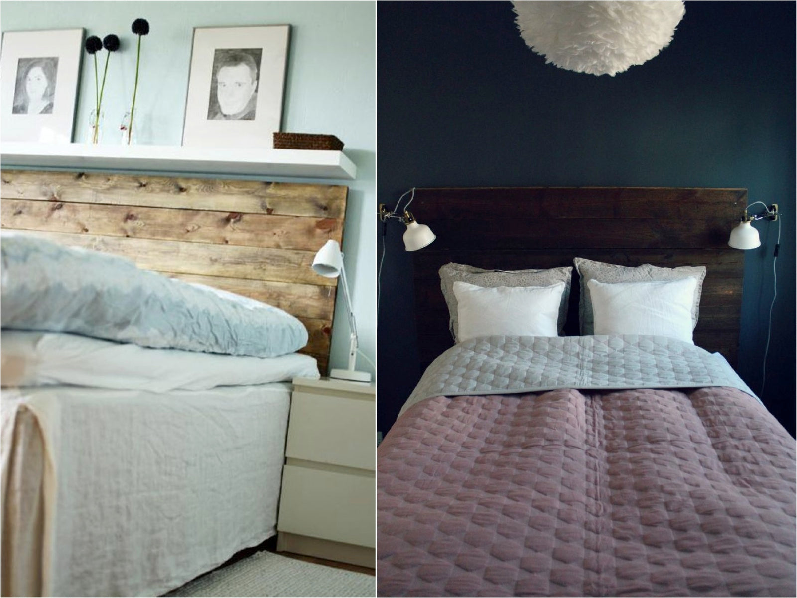 Picture of: Wooden Headboard