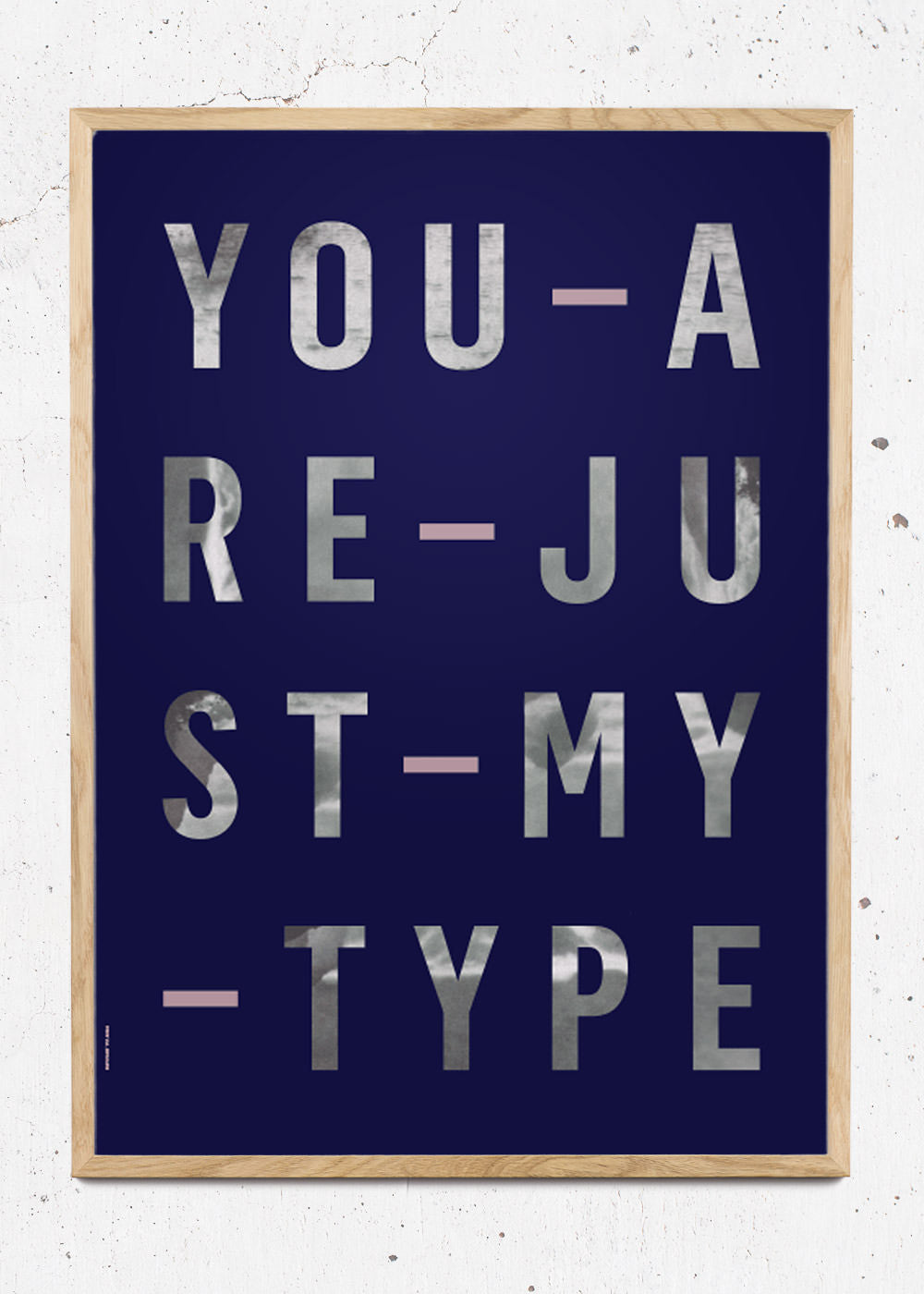 Plakat af Just My Type - Navy fra I Love My Type