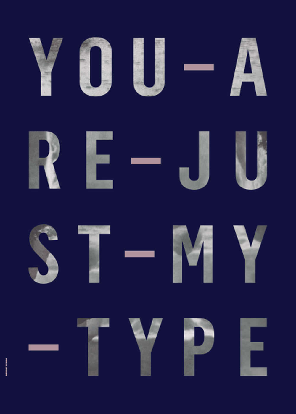 Just My Type - Navy fra I Love My Type