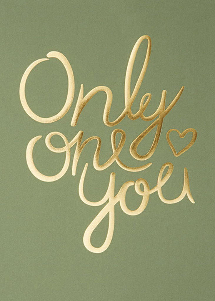 Only One You - Mid Green fra I Love My Type