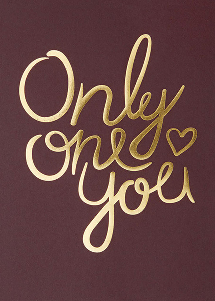 Only One You - Claret fra I Love My Type