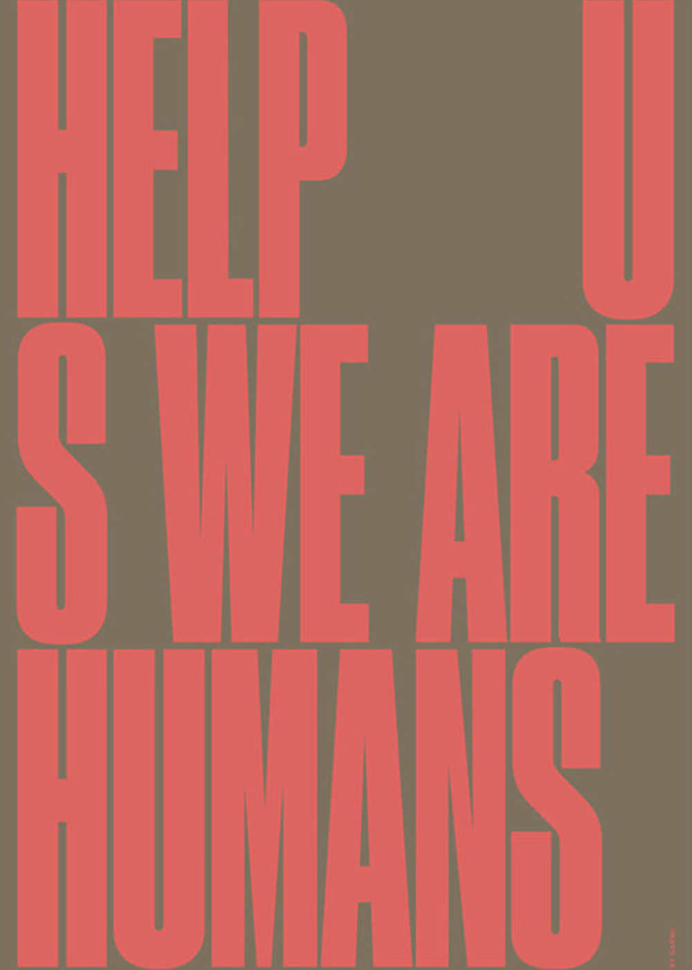 Help Us - We Are Humans fra By Garmi