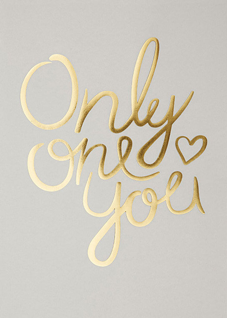 Only One You - Pale Grey fra I Love My Type
