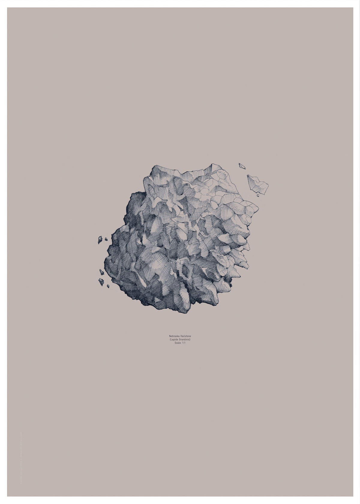 Nature 1:1 Hailstone, Everest Grey fra Paper Collective