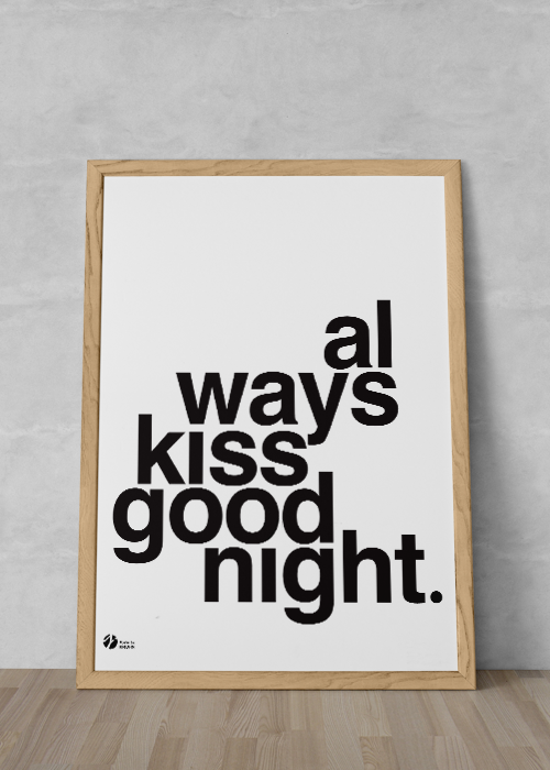 Always Kiss Goodnight - S/H fra By Krohn