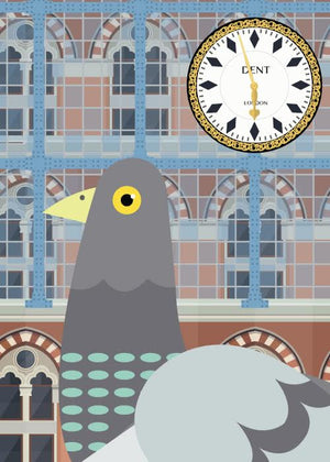 Pigeon at St Pancras fra Sivellink