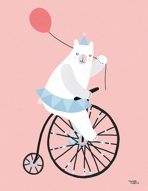 Cycling Bear fra Michelle Carlslund