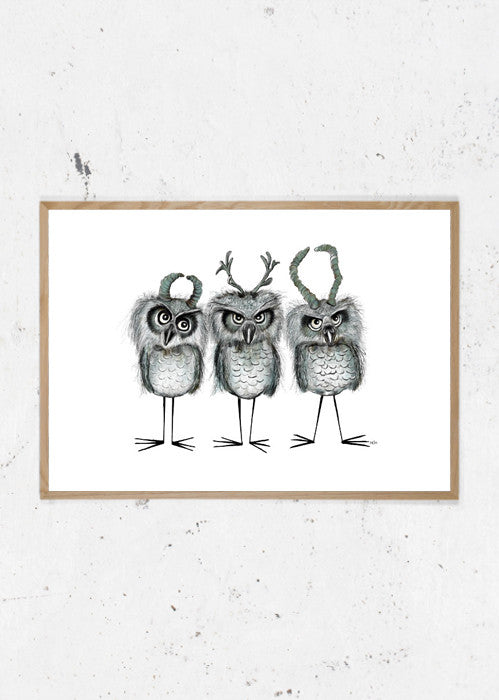 Owls with Horns fra Svenningsenmoller Design