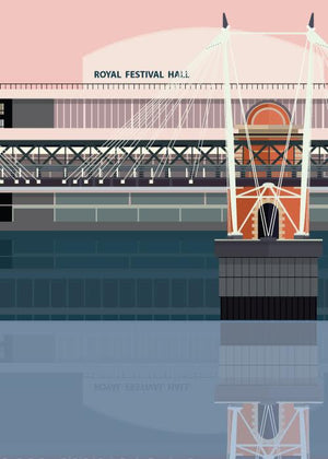 Golden Jubilee Bridge & Royal Festival Hall fra Sivellink