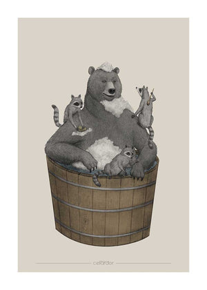 Washing Bear fra Cellardor